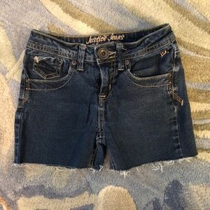 Justice Jeans Simply Low Jean Shorts